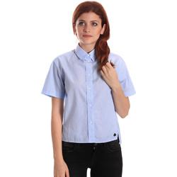 Textil Mulher camisas Fornarina SE174567CA1218 Azul