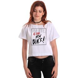 Textil Mulher T-Shirt mangas curtas Fornarina SE175L28JG0709 Branco