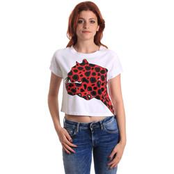 Textil Mulher T-Shirt mangas curtas Fornarina SE175L32JG0709 Vermelho