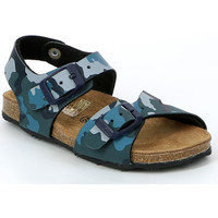 Sapatos Criança Sandálias Grunland SB0911 Azul