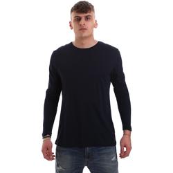 Textil Homem T-shirt mangas compridas Antony Morato MMKL00264 FA100066 Azul