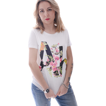 Textil Mulher T-Shirt mangas curtas Fracomina FR20SP368 Branco