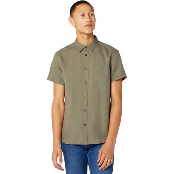 Textil Homem Camisas mangas curtas Wrangler W5J1LOX45 Verde