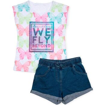 Textil Rapariga Conjunto Losan 714 8006AB Branco
