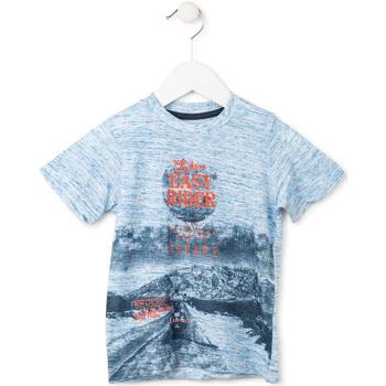 Textil Rapaz T-Shirt mangas curtas Losan 715 1018AC Azul