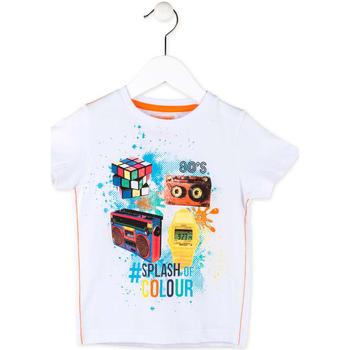 Textil Rapaz T-Shirt mangas curtas Losan 715 1023AC Branco