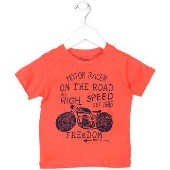 Textil Criança T-Shirt mangas curtas Losan 715 1215AC Laranja