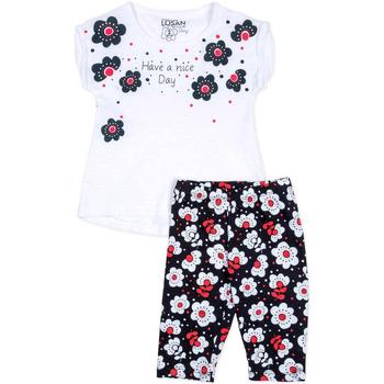 Textil Rapariga Conjunto Losan 716 8012AD Branco