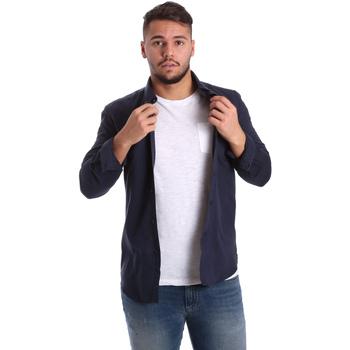 Textil Homem Camisas mangas comprida Antony Morato MMSL00408 FA400047 Azul