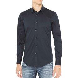 Textil Homem Camisas mangas comprida Antony Morato MMSL00415 FA450001 Azul