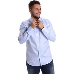 Textil Homem Camisas mangas comprida Gmf 972903/02 Azul