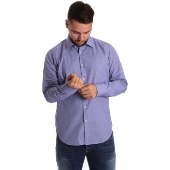 Textil Homem Camisas mangas comprida Gmf 972160/04 Azul