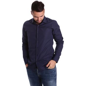 Textil Homem Camisas mangas comprida Gmf 972900/04 Azul