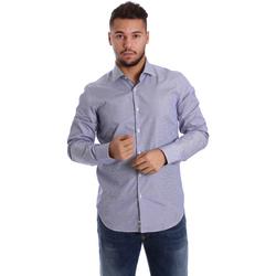 Textil Homem Camisas mangas comprida Gmf 972906/04 Azul