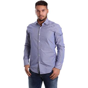 Textil Homem Camisas mangas comprida Gmf 972908/04 Azul