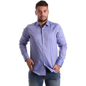 Textil Homem Camisas mangas comprida Gmf 972103/05 Azul