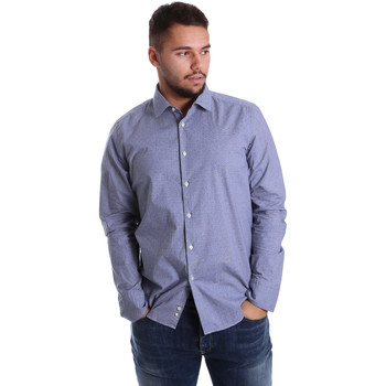 Textil Homem Camisas mangas comprida Gmf 972144/01 Azul