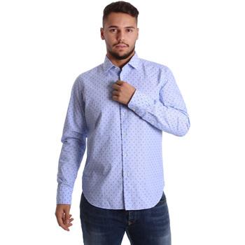 Textil Homem Camisas mangas comprida Gmf 972158/01 Azul