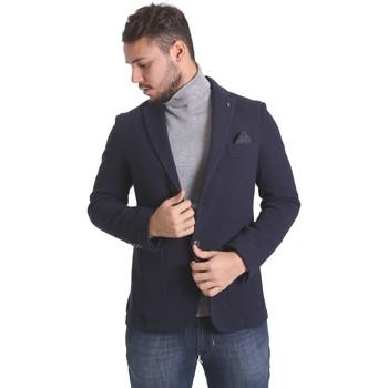 Textil Homem Casacos/Blazers Sei3sei PZG9 7291 Azul