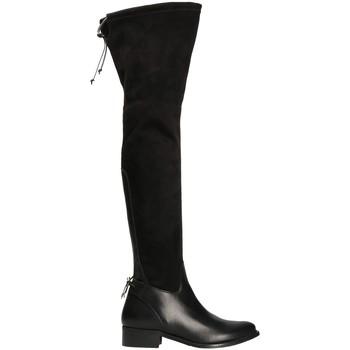 Sapatos Mulher Botas altas Mally 6077-1 Preto