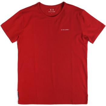 Textil Homem T-Shirt mangas curtas Key Up 2G69S 0001 Vermelho