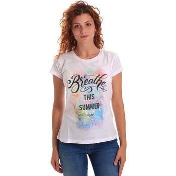 Textil Mulher T-Shirt mangas curtas Key Up 5D59S 0001 Branco