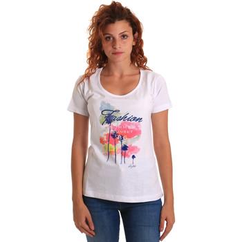 Textil Mulher T-Shirt mangas curtas Key Up 5D58S 0001 Branco