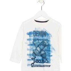 Textil Criança T-shirt mangas compridas Losan 725 1000AC Branco