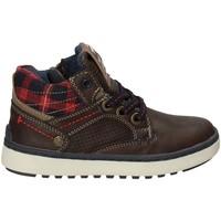 Sapatos Criança Sapatilhas de cano-alto Wrangler WJ17220 Castanho
