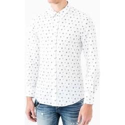 Textil Homem Camisas mangas comprida Antony Morato MMSL00425 FA430306 Branco