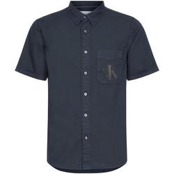 Textil Homem Camisas mangas curtas Calvin Klein Jeans J30J315223 Preto