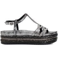 Sapatos Mulher Sandálias Café Noir HC913 Cinzento