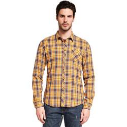 Textil Homem Camisas mangas comprida Gaudi 921BU45005 Amarelo