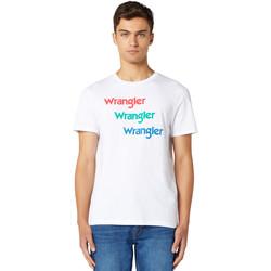 Textil Homem T-Shirt mangas curtas Wrangler W7D7D3989 Branco