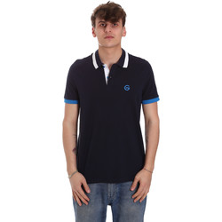 Textil Homem Polos mangas curta Gaudi 011BU64043 Azul
