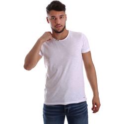 Textil Homem T-Shirt mangas curtas Key Up 233SG 0001 Branco