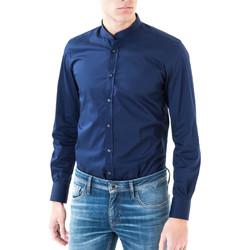 Textil Homem Camisas mangas comprida Antony Morato MMSL00376 FA450001 Azul