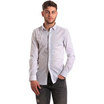 Textil Homem Camisas mangas comprida Antony Morato MMSL00428 FA430302 Branco