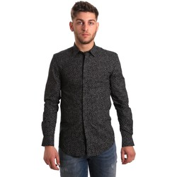 Textil Homem Camisas mangas comprida Antony Morato MMSL00428 FA430302 Preto