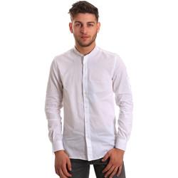 Textil Homem Camisas mangas comprida Antony Morato MMSL00429 FA440006 Branco