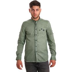 Textil Homem Camisas mangas comprida Antony Morato MMSL00452 FA400014 Verde
