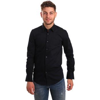 Textil Homem Camisas mangas comprida Antony Morato MMSL00472 FA450001 Azul