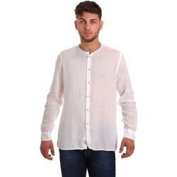 Textil Homem Camisas mangas comprida Gaudi 811BU45022 Branco