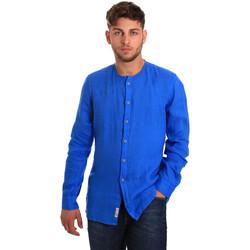 Textil Homem Camisas mangas comprida Gaudi 811BU45022 Azul