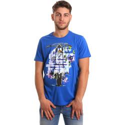 Textil Homem T-Shirt mangas curtas Gaudi 811BU64154 Azul
