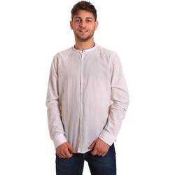 Textil Homem Camisas mangas comprida Gaudi 811FU45020 Branco