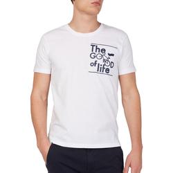 Textil Homem T-Shirt mangas curtas Gas 542990 Branco