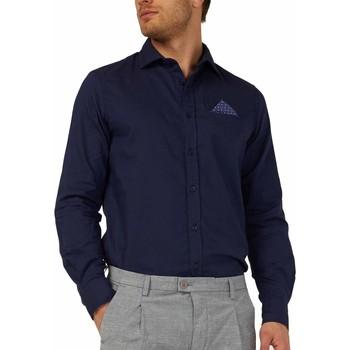 Textil Homem Camisas mangas comprida Gas 151131 Azul