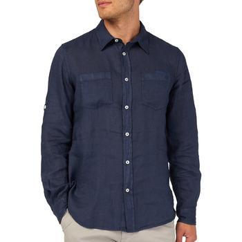 Textil Homem Camisas mangas comprida Gas 151150 Azul