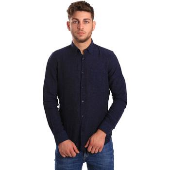 Textil Homem Camisas mangas comprida Gas 151200 Azul